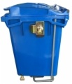 660L Wastebins di plastica con due rotelle