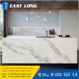 Partie supérieure du comptoir de marbre de pierre de quartz de veines de granit