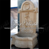 Fonte de parede de pedra de mármore Mf-665 do ouro do deserto do jardim do granito