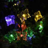 Buntes 10 LED-feenhaftes Solarlicht mit Zeichenkette