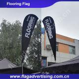 Bandierina di spiaggia di pubblicità su ordinazione all'ingrosso, bandierina della piuma, bandiera della bandierina del Teardrop