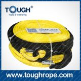 Cable Winch Dyneema Synthetic 4X4 Winch Rope avec crochet Doublure en mousse emballée comme ensemble complet