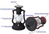 Retro kampierende Laterne-Solarlampe mit Kerosin-Lampen-Entwurf von der Fabrik ISO9001