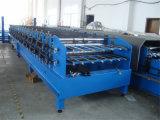 Trapezoide waagerecht ausgerichtete Stahlblech-Doppelrolle, die Maschine bildet