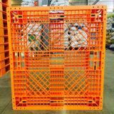Páletes do plástico da parte superior lisa da carga barata antiderrapante da fábrica euro-