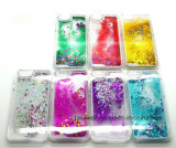 caisse de sable mouvant du cristal 3D liquide pour l'iPhone 5 cas de couverture de téléphone mobile de sable de 6 liquides