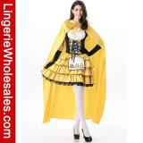 Abendkleid-Kostüm der heißen verkaufenfrauen Halloween-Goldilocks mit langem Poncho