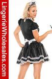 誘惑的な女性のHalloween党デザインの凝った服のフランスの女中のCosplayの衣裳