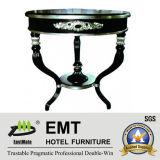 Table basse professionnelle de feuille argentée en bois plein (EMT-CT12)