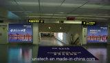 空港大きい展覧会の表示ライトボックスを広告する壁に取り付けられたバックライトを当てられた旗のフィルムLED