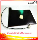 Almofada de aquecimento elétrica para o calefator 550*350*7mm do silicone do preto do pneumático