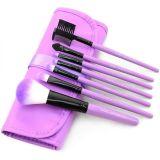 Vente en gros synthétique pourpre chaude d'usine de brosse de maquillage de cheveux du professionnel 7piece