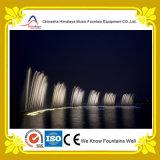Chasse de la fontaine d'eau de danse avec l'éclairage synchronisé de DEL