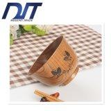 Tazón de fuente de madera cómodo de la mariposa de Eco con insignia de encargo