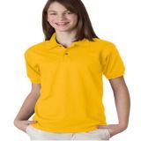 Overhemd van het katoenen Polo van de Middelbare school het Eenvormige