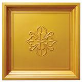 Le regard 3D de tuile de l'or FRP imperméabilisent le panneau de mur