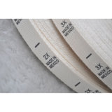 Escritura de la etiqueta principal impresa escritura de la etiqueta hecha en fábrica del algodón de la capa de la ropa