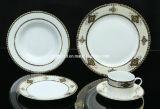 Vaisselle de porcelaine réglée avec le modèle floral, ensemble de 20