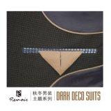 Людей пригонки шерстей отворотом OEM костюм дела пиковых тонкий