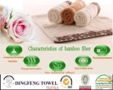 Selling chaud Solid Color Satin Series Plain Weaving Bamboo 100% Towels pour Bath
