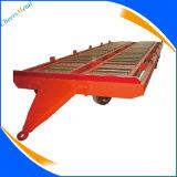 4つの車輪鋼鉄空港手荷物の荷物の牽引の貨物トロッコのトレーラー