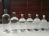 eindigen de Witte Duidelijke Flessen van het Glas van de Geest van de Wijn 750ml 700ml met Cork Kurk