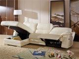 Sofá Home L forma com função branca do Recliner da cor