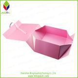 Чувствительная коробка бумаги упаковки ботинка складывая с закрытием тесемки
