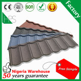 Tuile de toiture en aluminium enduite de pierre de tuile de toit de résine synthétique du Nigéria