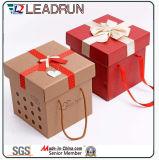 Rectángulo de regalo de madera del actual del regalo de la cartulina del recuerdo de la caja de embalaje de la joyería del regalo del estaño vino de papel del rectángulo (M223)