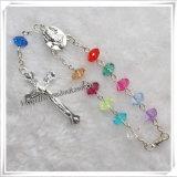 Branello di plastica un rosario di decade, braccialetto del rosario (IO-CE055)