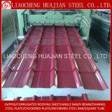 Color de chapa de acero revestida corrugado galvanizado para techos
