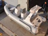 Le meilleur bateau de côte de vente de Liya 17ft pour le petit bateau gonflable de côte de coque de fibre de verre d'amusement