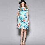 Dress Clothing 짧은 소매 은은한 불빛 감미로운 실크 당 여자 숙녀