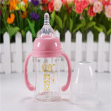 Crystal Diamond 4 oz 120ml Wide Neck Baby Glass Bottle