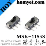 Type contact coulissant de 3pin Spdt (MSK-1153S) du constructeur SMD