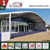 tenda della parte superiore dell'arco di 15X30m con il sistema duro di vetro del muro