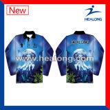 Cópia de Digitas do Sportswear de Healong por muito tempo com pesca Jersey da alta qualidade