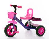 衝撃吸収性の子供のバイクの手押車が付いている子供の赤ん坊の三輪車