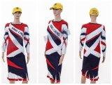 El tinte de Healong sublimó completamente a señoras al por mayor Cheerleading la alineada