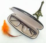 Caixa de presente personalizada de couro preto para óculos de sol