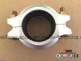 Garnitures et couplage Grooved malléables galvanisés à chaud avec l'homologation de FM/UL