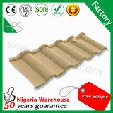 Mattonelle di tetto rivestite del metallo di tetto della glassa Pietra-Rivestita poco costosa delle mattonelle
