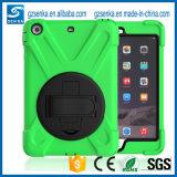 Крышка случая таблетки зеленого цвета Гуанчжоу гибридная для воздуха 9.7inch iPad с кронштейном