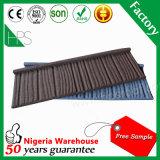 Material de construção ondulado da telha de telhado da pedra da folha da telhadura da placa de aço
