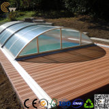 Panneau extérieur de jardin de plancher de nature de Decking composé en plastique en bois de cannelure