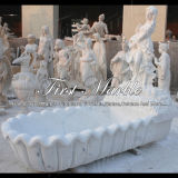 Marmeren Badkuip mbm-1021 van Carrara van de Badkuip van het Graniet van de Steen Witte