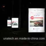 Рекламирующ афишу напольное СИД Lightbox Scrolling алюминиевую