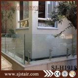 A cor preta matizou trilhos de vidro moderados 12mm de Frameless para o cerco da associação (SJ-H1907)