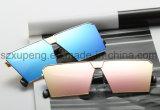 Gafas de sol cuadradas grandes de moda del metal de Len del espejo del marco de la personalidad